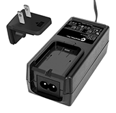 GTM91128LIXCELM, ITE / Medical Power Supply, Wall Plug-in+Desktop Combination, Li-Ion Battery Charger, , Input Rating: 100-240V~, 50-60 Hz, IEC 60320/C8 AC Inlet connector, Output Rating: 12.6 Watts, Power rating with convection cooling (W) , 4.2-12.6V in 0.1V increments, Approvals: CE; Double Insulation; PSE; RoHS; China RoHS; Ukraine; VCCI; WEEE; IP54;